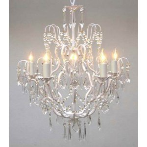 Wrought Iron Crystal Chandelier Chandeliers Lighting H27