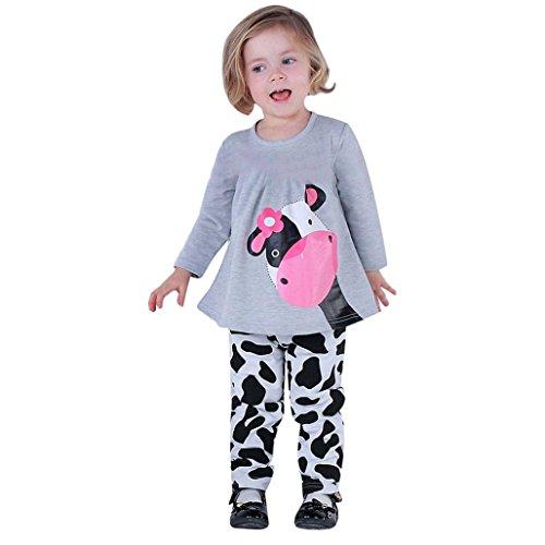 Culater® Bambino neonate autunno rifornisce dei vestiti T-shirt Top abito pantaloni (90)