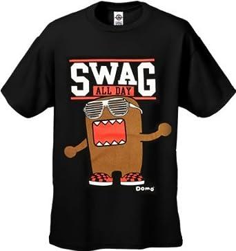 Amazon.com: Hello Domo! Swag All Day Men's T-Shirt #52