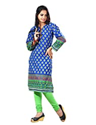 Arista Designer Ready To Wear Blue Kurti Size - 38 (KR81)