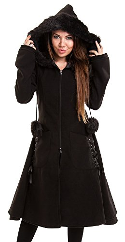 Poizen Industries -  Cappotto  - Donna nero Medium