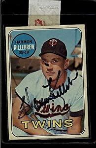 Harmon Killebrew Minnesota Twins Signed 1969 Topps #375 Trading Card 11339 - MLB... by Sports Memorabilia