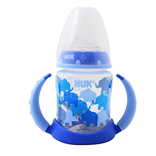 Original Usa 5Oz/150Ml Nuk Trendline Dots Learner W/Silicone Spout Baby Bottle Cup And Viso For 12 Months++ 25000551 front-449501