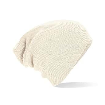 Beechfield Bonnet souple Blanc Blanc cassé taille unique