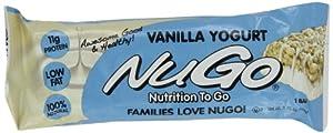 NuGo All-Natural Nutrition Bar, Vanilla Yogurt, 1.76-Ounce Bars (Pack of 15)