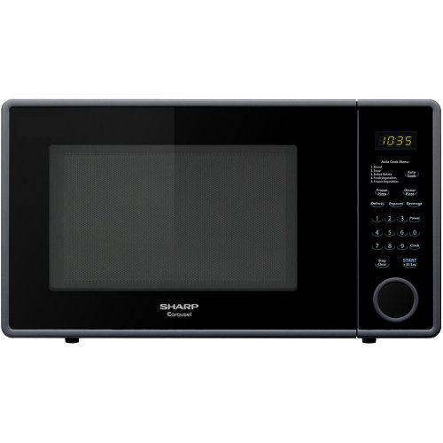 Sharp R-309Yk R309 Series 1.1 Cubic Feet 1000-Watt Microwave Oven, Mid-Size, Smooth Black