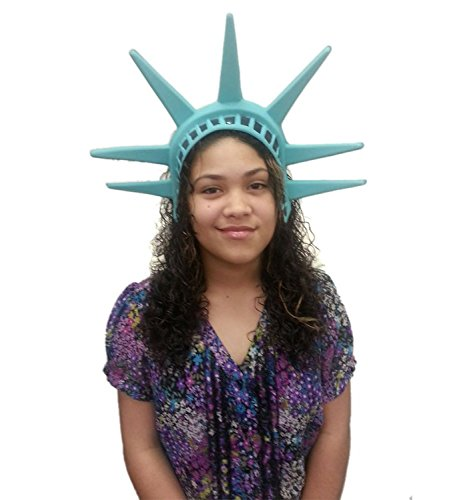 Statue Of Liberty Head Piece Lady America Patriotic Hat Crown Costume Tiara