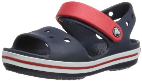 Crocs Crocband Sandalo K Ciabatte, Unisex Bambini, Blu (Navy/Red 485), 28-29