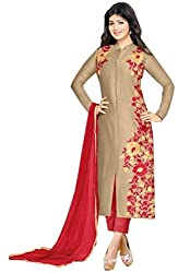 S.B CREATION New Arrival Cream Cambric Cotton Ayesha Takiya Trendy Salwar Suit Dress Material(ED-102_Cream_Freesize)