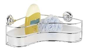 Wenko 16948100 Eckablage Ergo Milazzo Super-Loc - Befestigen ohne Bohren, Chrom-Kunststoff, 36 x 9 x 27 cm, weiß