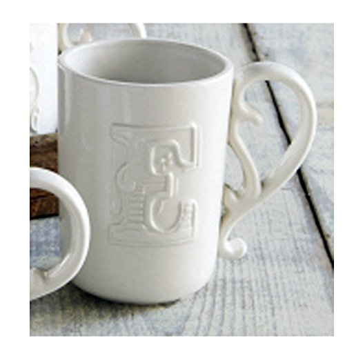 Mud Pie Flourish Initial Mugs (Letter E)