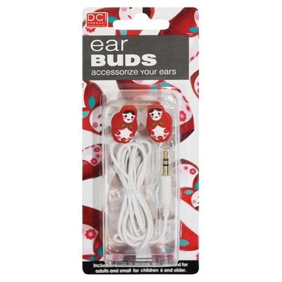 Dci 23866 Babushka Earbuds - Retail Packaging - Red