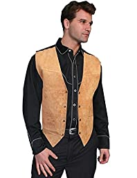 Scully Men\'s Suede Leather Vest Brown 3X