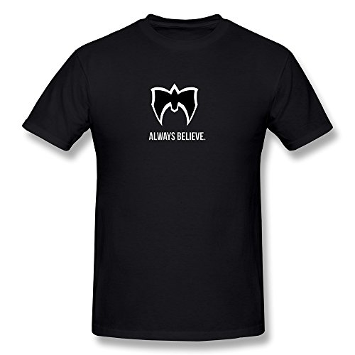 FENGTING Men's Rip Ultimate Warrior Always Believe T-shirt XXL Black Tee