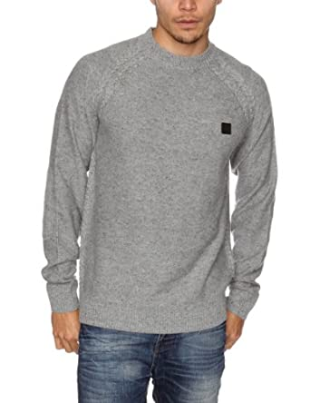 Bench Kulter Men's Jumper Grey Marl Small