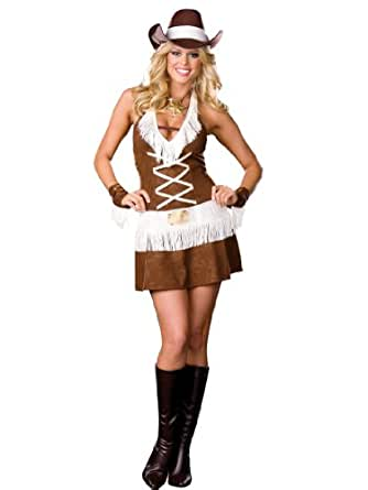 Cowgirl Costume Dress Sexy South Western Style Country Girl Womens Theatrical Sizes: Small