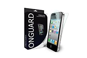 ONGUARD LLC ONG-IP4S-1 Premium Anti-Scratch Protector for Apple iPhone 4S - 2 Pack - Retail Packaging - Black/White