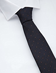 Collezione Made in Italy Pure Silk Herringbone & Spotted Tie