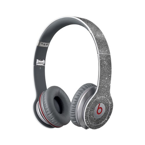 Beats Solo Full Headphone Wrap In Sparkling Silver (Headphones Not Included)