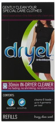 Dryel Home Dry Cleaning Kit Refills-Clean Breeze-6ct