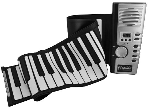 Portable Easy Musical Toy - 61-Key Soft Keyboard Midi Digital Hand Roll-Up Piano - Grey