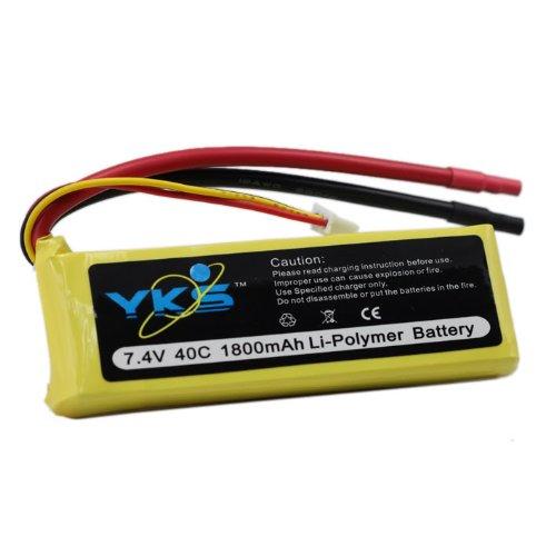 7.4v 1800mah 40c Rc Lipo Battery Deans/traxxas Car