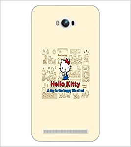 PrintDhaba Hello Kitty D-5516 Back Case Cover for ASUS ZENFONE MAX ZC550KL (Multi-Coloured)