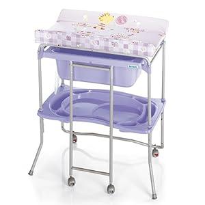 Brevi table langer avec baignoire lido avec split - Table a langer avec baignoire pliable ...