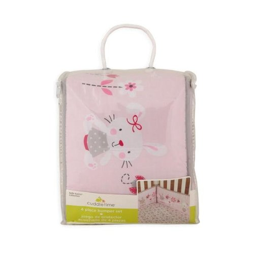 Cuddletime Infant Girl's Bella Bunny Crib Bumper - 1