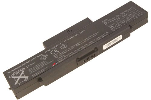 Sony Vaio VGN-CR590 Laptop Battery [4400mAh] Laptop notebook pc computer for Sony VGP-BPS9/B 18 months agreement by LB1 High Performance