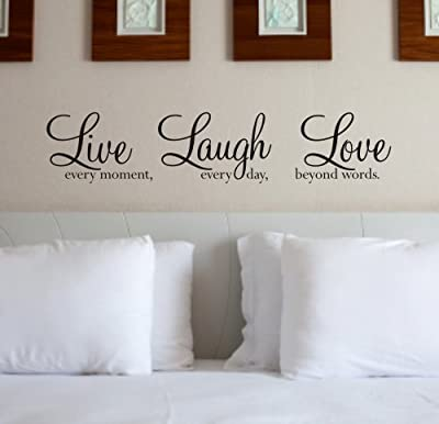Wall Art Quote Sticker - 'Live Laugh Love' WA088X by Createworks