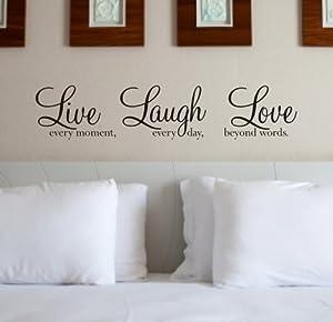 Wall Art Quote Sticker 39 Live Laugh Love 39 WA088X BLACK