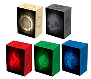 Set of 5 New Legion SUPER Iconic Deck Boxes for Magic/Pokemon/YuGiOh Cards (Incl. Red, Blue, Green, Black and White)