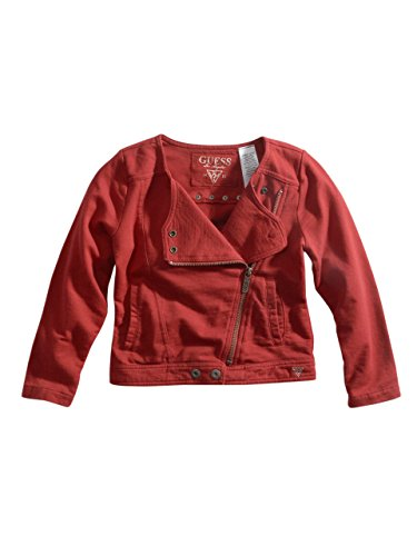 Guess Kids Girls Little Girl Fringe Jacket (2-6X), Red Faux-Suede (4)