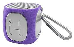 Sound Design iHome IBT55UGXC Bluetooth Rechargeable Mini Speaker System (Purple/Gray)