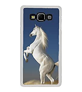 Graceful White Horse 2D Hard Polycarbonate Designer Back Case Cover for Samsung Galaxy A8 (2015 Old Model) :: Samsung Galaxy A8 Duos :: Samsung Galaxy A8 A800F A800Y