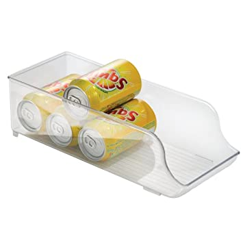 InterDesign Fridge Organizer, Soda Can Holder, Clear