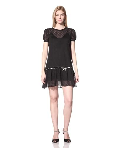 RED Valentino Women's Drop-Waist Dress  [Black]