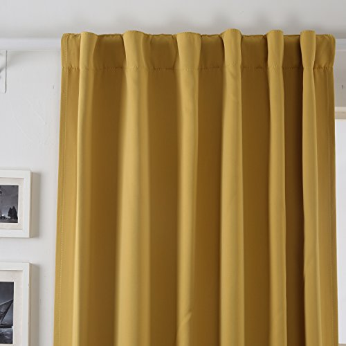 Deconovo Back Tab And Rod Pocket Curtains And Drapes Room