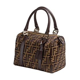 Fendi 8BL068 Mini Duffle Bag-Zucchini Gold Print
