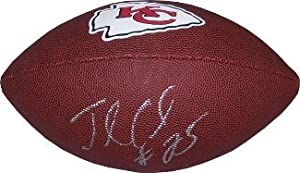 Jamaal Charles Autographed Hand Signed Kansas City Chiefs Brown Logo Football by Hall of Fame Memorabilia
