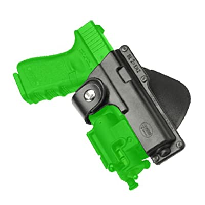 Fobus Tactical Speed Holster Paddle GLT19 Glock 19,23,32 / S&W 99 Compact/ M&P Compact holds Handgun with Laser or Light
