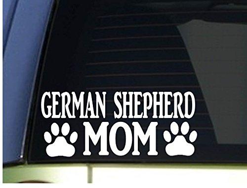 German Shepherd Mom sticker *H338* 8.5 inch wide vinyl schutzhund
