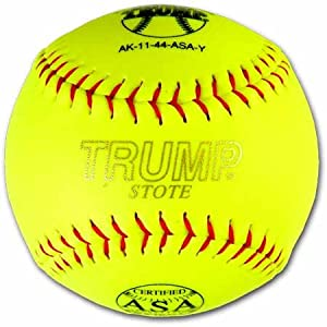 Trump AK-11-44-ASA-Y AK ASA Red Stitch Synthetic Leather Softball