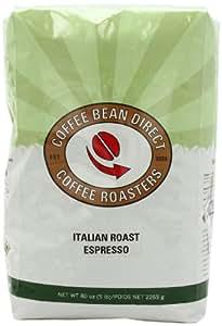 Coffee Bean Direct Italian Roast Espresso, Whole Bean Coffee, 5-Pound Bag