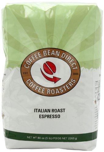Coffee Bean Direct Italian Roast Espresso, Whole Bean Coffee, 5-Pound Bag (Bulk Coffee compare prices)
