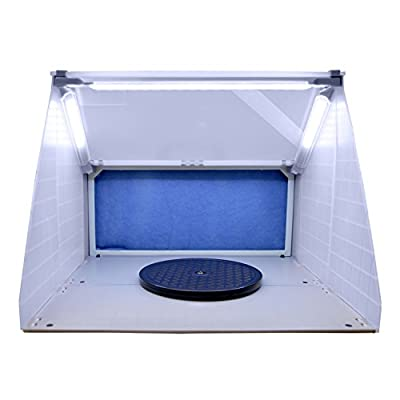 Master Airbrush® Brand Portable Hobby Airbrush Spray Booth with LED Lighting for Painting All Art, Cake, Craft, Hobby, Nails, T-shirts & More. Includes Our Exhaust Extension Hose That Extends up to 5.6 Feet.