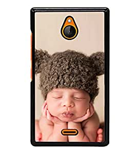 Cute Kid with Brown Cap 2D Hard Polycarbonate Designer Back Case Cover for Nokia X2 Dual SIM :: Nokia X2 RM-1013 :: Nokia X2DS