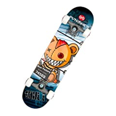 Buy Punisher Skateboards Guilty 31-Inch Double Kick Concave Complete Skateboard by Punisher Skateboards