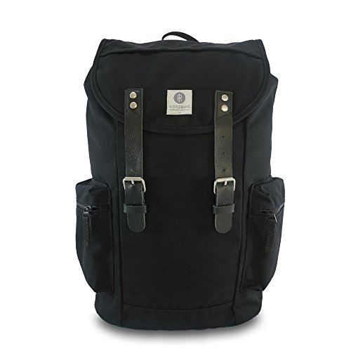 Ridgebake zaino caso LIAM BLACK & BLACK LEATHER nero Uomo Donna Bambini Laptop Backpack